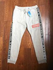 New Adidas ES Sweatpant Joggers Sweat Pants Gray Skinny Slim Fit AY8268 Size XL