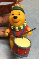 Grolier Disney Ornament Winnie The Pooh With Drum Christmas Decoration