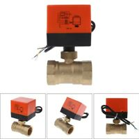 """Electric Motorized Brass Ball Valve DN20 AC 220V 2 Way 3-Wire with Actuator 3/4"""""""