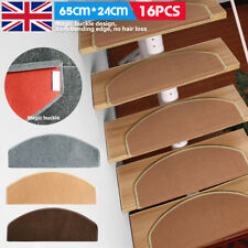 16Pcs Mat Step Staircase Protection Cover Stair Treads Non Slip Carpet Pads UK