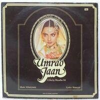 Umrao Jaan LP Record Bollywood Khaiyyaam Hindi Soundtrack Rare Vinyl Indian EX