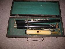old wooden flute in C (?)  , w. BONE head!