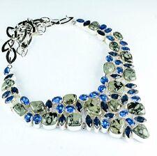 "Handmade Kambaba Jasper Gemstone 925 Sterling Silver Necklace 18"" #H00070"