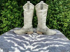 Aces Cream Distressed Look Leather Cowboy boots UK size 5 EU 38