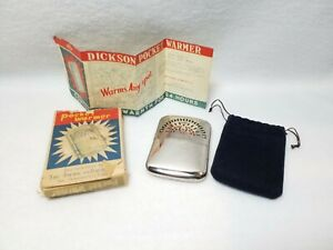 Rare Vintage Dickson ~ Pocket Hand Warmer ~ Includes Box