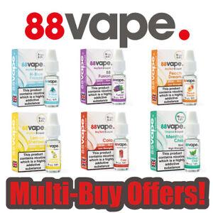 88 VAPE E LIQUID Menthol Chill Rolling Leaf Fusion 1mg 1 3 6 11 16 mg, 5,10,20pk