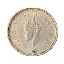 1944 INDIA SILVER RUPEE COIN