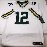 NWT NFL White Green Bay Packers Aaron Rodgers Youth Football Jersey X-Large