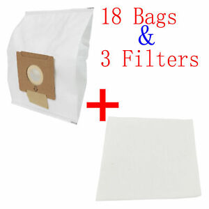 18 X Vacuum Bags & 3 Filters For Wertheim W2000 Cat and Dog Synthetic VC-H4809