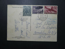 Liechtenstein 1960 Airmail Postcard to USA / Light Creasing - Z11833