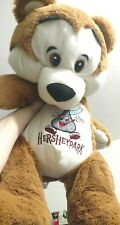 "23"" HERSHEY PARK HUGE TEDDY BEAR STUFFED ANIMAL CHOCOLATE KISS DOLL LARGE BIG"