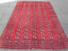 Old Traditional Hand Made Persian Rug Oriental Red Wool Carpet Rug 263x191cm