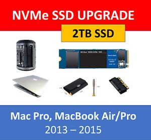 WD Blue 2TB NVMe SSD Mac Pro 2013 6,1 MacBook Pro / Air 2013 2014 2015 Upgrade