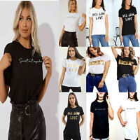 Women Sweet But Psycho & Spice Up Your Life Slogan Short Sleeve T-Shirt Top