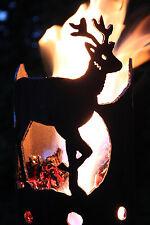 Reh Rehbock Fackel - Set mit Stiel und Wachsrollen Gartenfackel Feuerschale