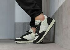 Saucony Mens Jazz Original Vintage Leather Trainers In Black and Cream/White