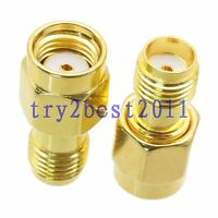 1pce Adapter connector RP-SMA jack pin to SMA jack pin RF COAXIAL straight