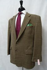 Men's m&s Beige Houndstooth Wool Sports Veste Blazer 42R CC9670