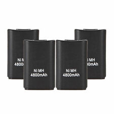 4pcs 4800mAh Rechargeable Battery Pack for Xbox 360 Wireless Controller Black