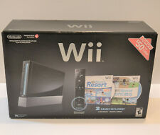 Nintendo Wii Console Black Sports Resort System Case **EMPTY RETAIL BOX ONLY**