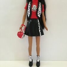 NEW BARBIE DOLL CLOTHES 101 Dalmatians Outfit Vest Top Skirt Socks Shoes Bag