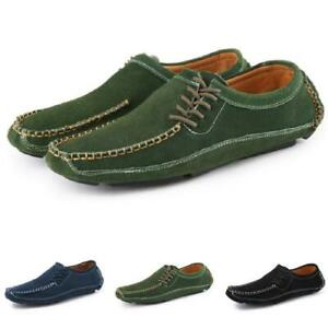 Mens Faux Leather Driving Moccasins Shoes Pumps Slip on Loafers Flats Walking D