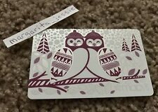 MACY'S FOIL GIFT CARD HOLIDAY PURPLE & SILVER OWLS NO VALUE COLLECTIBLE NEW