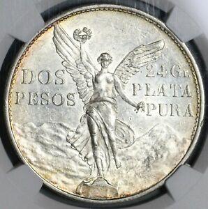 1921 NGC MS 61 Mexico 2 Dos Pesos Independence Centennial Silver Coin (21061702C
