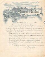 Ancienne lettre - Fromagerie de Beauchemin à BEAUCHEMIN 1925