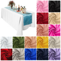 """11"""" x 108"""" Satin Table Runner Runners Wedding Party Christmas Table Decoration"""