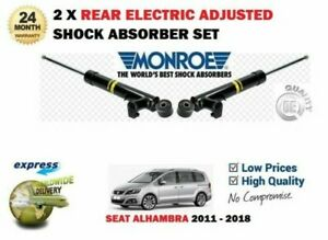 FOR SEAT ALHAMBRA 2011-2018 NEW 2X REAR ELECTRIC ADJUSTABLE SHOCK ABSORBER SET