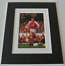 David O'Leary Signed Autograph 10x8 photo mount display Arsenal Football & COA