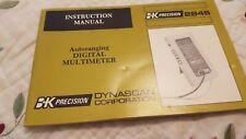B&K Precision Autoranging Digital Multimeter Instruction Manual, Model 2845