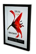 DINA4 Bilderrahmen Wechselrahmen Echtholz Holz  Rahmen Schwarz 21 x29,7cm DIN A4