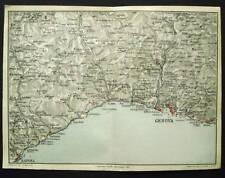 BERTARELLI.Topografia=SAVONA-GENOVA_Dintorni.ITALY 1907