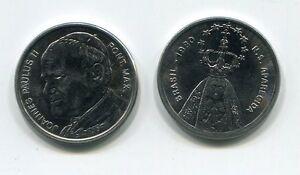Rare Pope Saint John Paul 11 Medal Brasil 1991 Visit
