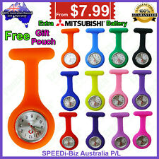 Quality Silicon Nurse Fob Watch for Pouch Pocket Bag Uniform Pick Case 2 Battery