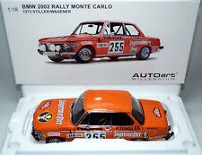 BMW 2002 e10 chasseur Maître RALLYE MONTE CARLO 1973 255 Silencieux AUTOART 87345 1:18