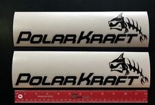 "2 (TWO)  POLAR KRAFT Boats Marine Decals 12"" - NEW - POLARKRAFT"