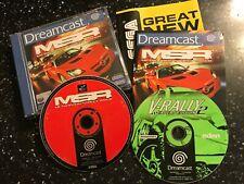 2x SEGA DREAMCAST GAMES MSR METROPOLIS STREET RACER + V-RALLY EXPERT EDITION 2