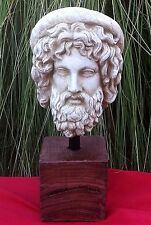 Sculpture fragment Ancient Greek Italian Statue Bust Aesculapius God of medicine