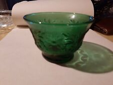 New ListingVintage dark green custard dish glassware