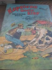 Vintage Napoleon Uncle Elby children's Coloring Book Dog Clifford McBride Comic