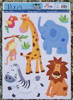Jungle Animals Wall Stickers Nursery Baby Kids Girls Boys Decals Stickarounds