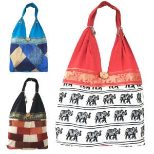 Indian Handicrafts Ethnic Elephant Jhola Hand Bag Festival Cotton Travel Bags