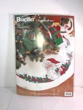 "Christmas Bucilla Holiday Cross Stitch 11 Count Tree Skirt Kit SANTA 83694,42"""