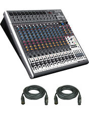 Behringer XENYX X2442USB 24-Input USB Audio Mixer with Effects & 2 XLR Cables