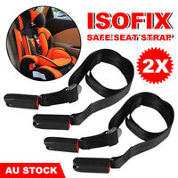 2x Kids Safe Seat Isofix Strap Car Baby Latch Link Belt Adjustable Anchor Holder
