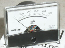 New 500 Ma 500ma 5a Dc Milliamp Current Amp A Ammeter Analog Panel Meter Usa