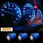 10x T5 B8.5D 5050 1SMD LED Blue Dashboard Dash Gauge Instrument Light Lamp Bulbs Alfa Romeo 156